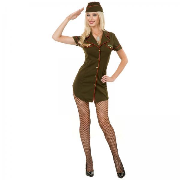 Сексуальная девушка в военной форме фото 634-528